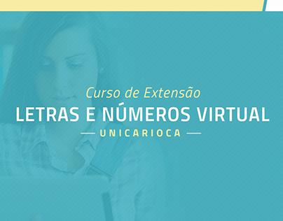 Curso de Extensão Letras e Números Virtual | UniCarioca