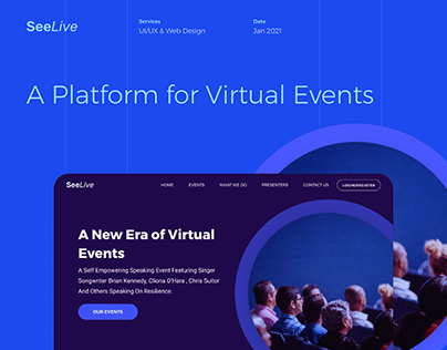 Events Landing Page Design