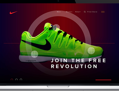 Nike Shopping siteRedesign Concept for Home page