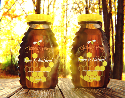 concept honey packaging render