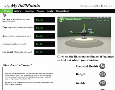 My 1000 Points Website Design