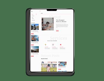 Blog UI website