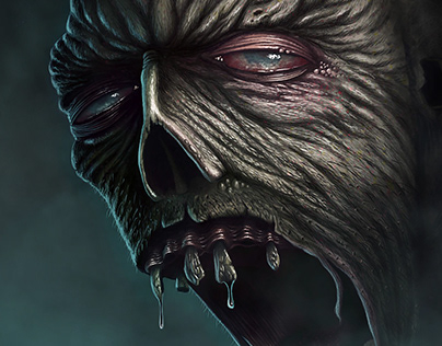 Zombie | Digital Painting | Time Lapse