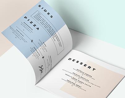 Jo-Jo's Menu Design