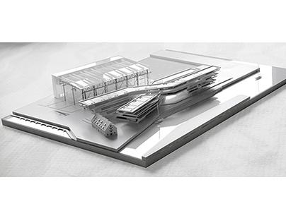 Architectural scale model, Klaipeda, Lithuania