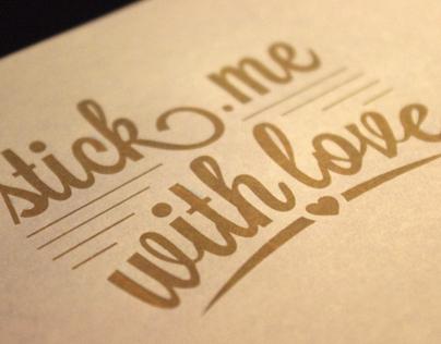 Visual typography set