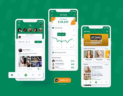 Fantipp - Creator and Fans UI Kit