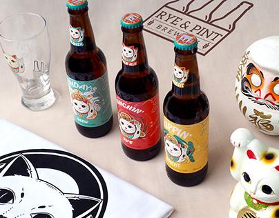 Rye & Pint Brewery - Craft Beer Label Design