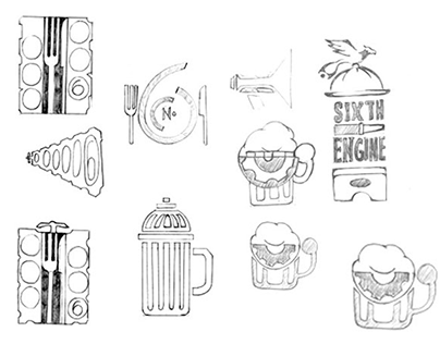 Sixth Engine  bar & lounge | re-Branding