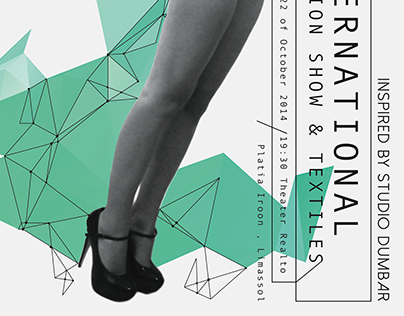International Fashion Show and Textiles · Poster