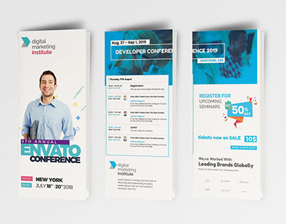 Event / Conference Schedule Brochure (FREE DOWNLOAD)