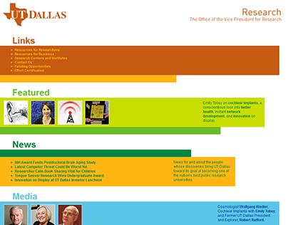UT Dallas VP Communications and VP Research Design/Dev