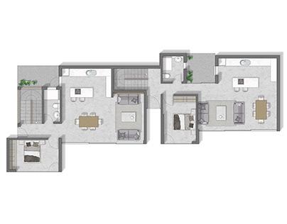 Floor plan 2D rendering in Asturias