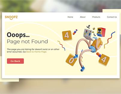 404 Page Not Found Ui Design