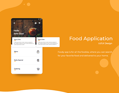 Food app | UI Design