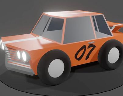 New cartoonish racing car