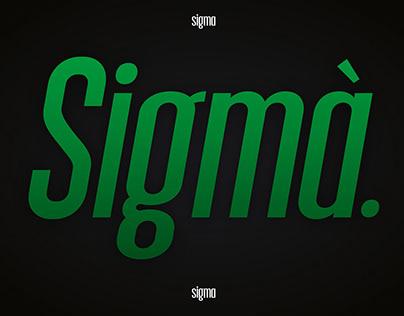 Sigma Typeface