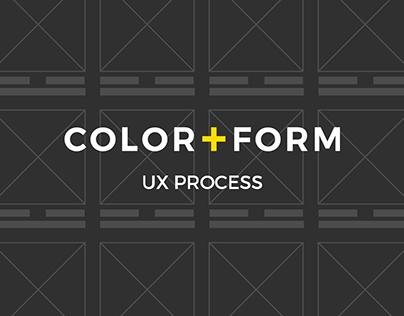 COLOR+FORM - ux process (e-commerce site)