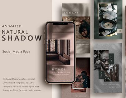 ANIMATED Natural Shadow Social Media