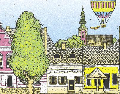 Szentendrei képeslapok / grafikák (2016-2020)