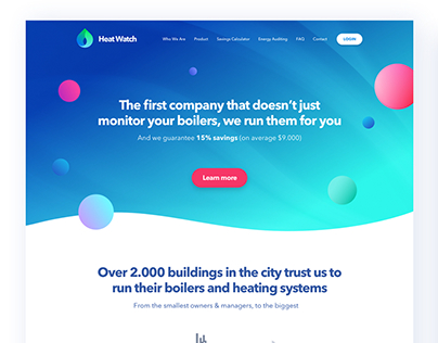 HeatWatch Website Design