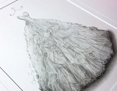 'Fiona' - Wedding Dress Illustration
