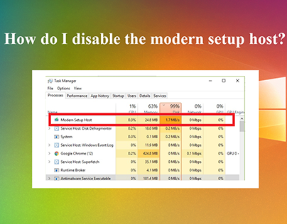 How do I disable the modern setup host?
