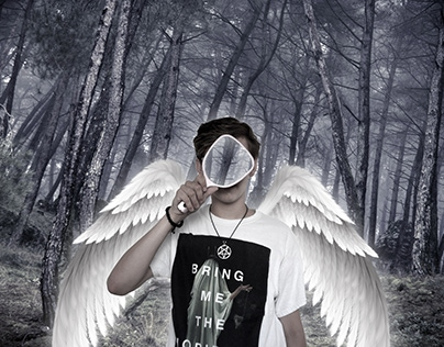 Angel in forest