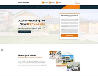 Corporate Website Layout