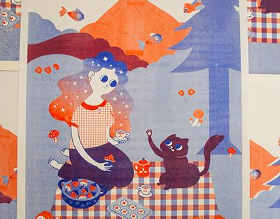 Risograph Poster + Fanzine