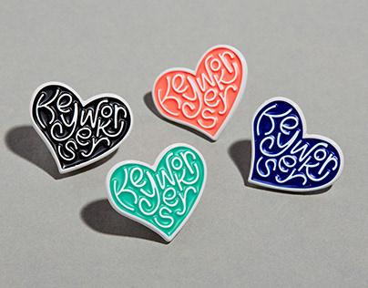 Heart Key Workers Enamel Pin Badges