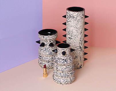 Black Spike Vases