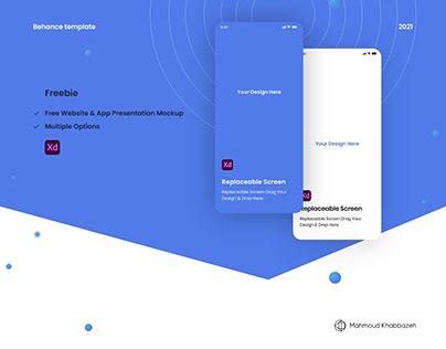 Free Website and App-Behance Presentation