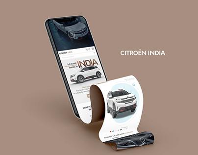 Citroen India Website Design
