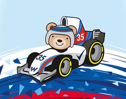 Driver Sergey Sirotkin || Helmet Design