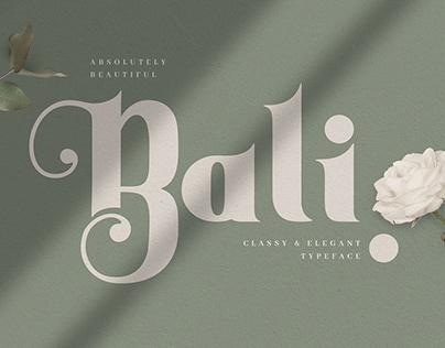 Bali - Elegant Decorative Serif