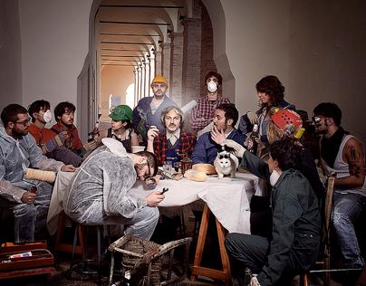 L'ultima cena operaia +riproduz. Ultima cena Tintoretto