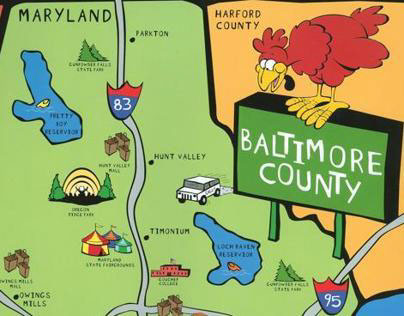 Barry Andrews Homes Baltimore County Map