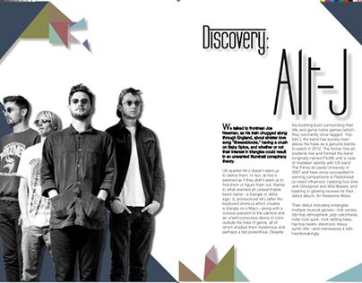 Alt-J- magazine spread