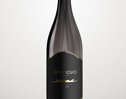 Red wine bottle label