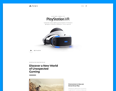 PlayStation VR Landing Page Concept