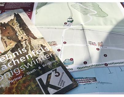 Karte für die Stadt Königswinter