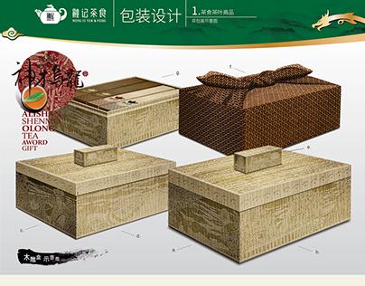 阿里山神木乌龙茶赏 设计说明 透过历史文本考据将文化典故结合视觉符号的形象建置,让人们对融记产生文化