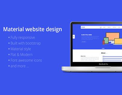 Material Website design