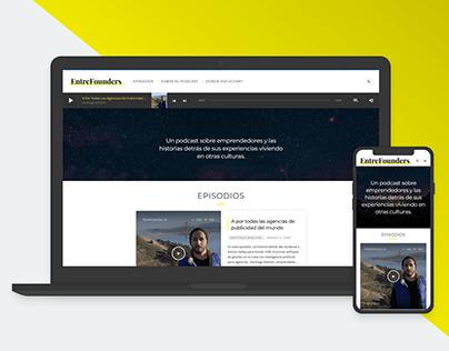 Wordpress UX/UI Design (Podcast Website)
