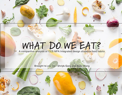 Data Visualization - What do we eat?