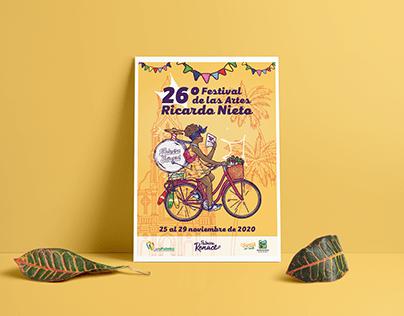 26º Festival de las Artes Ricardo Nieto   Poster