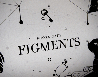 Figments Cafe Direct Mailer + Packaging