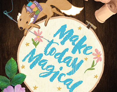 Embroider Fox with a Small Backpack: Make Today Magical