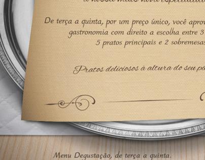 Garden Restaurant | Menu degustação